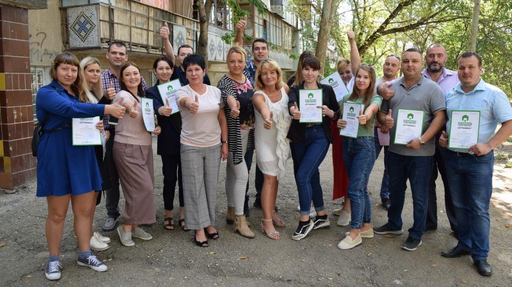 Людмила Рогозная вручила предпринимателям города Джанкоя сертификаты о прохождении образовательных курсов