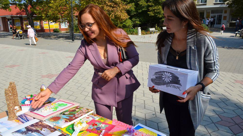 В п. Черноморское прошла благотворительная акция «Белый цветок»