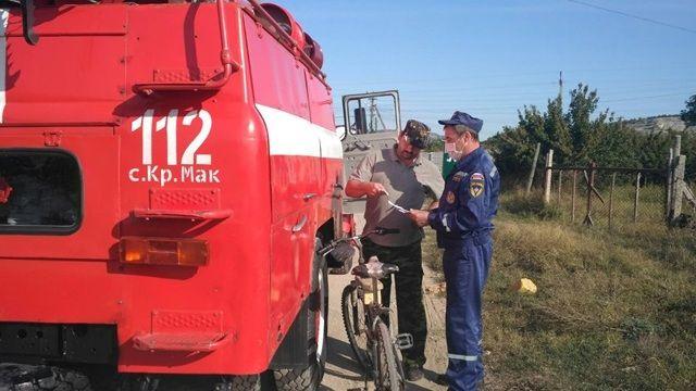 Сотрудники ГКУ РК «Пожарная охрана Республики Крым» продолжают профилактические работы с населением по предотвращению пожаров