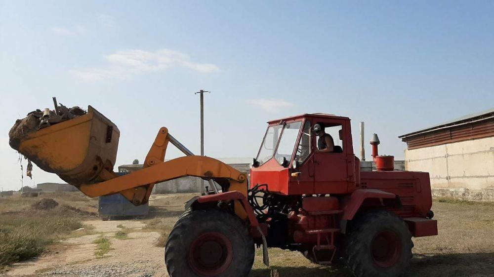В Нижнегорском районе проходит ликвидация свалок за пределами территорий населенных пунктов