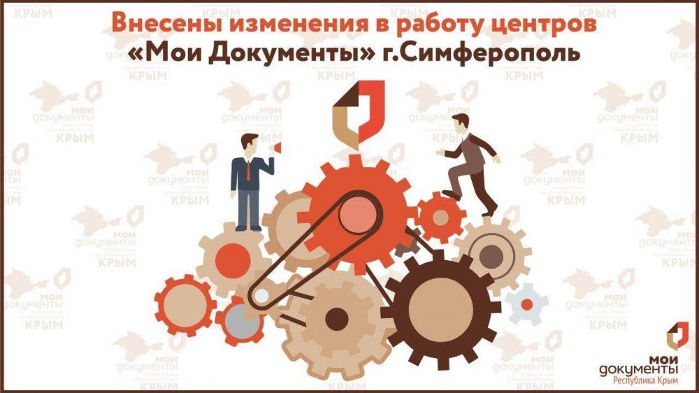 Внесены изменения в работу центров «Мои Документы» в Симферополе