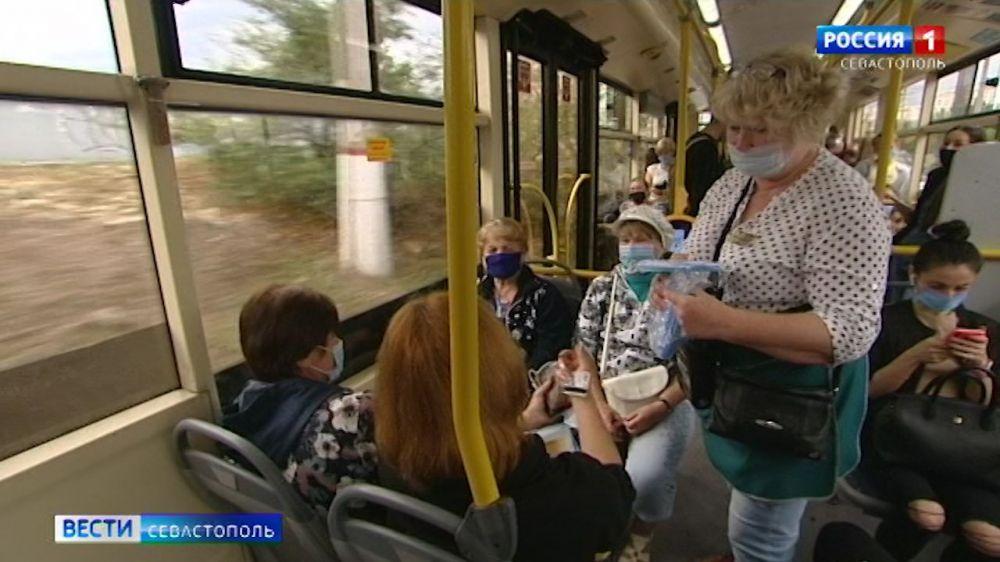 В транспорте Севастополя раздадут 300 тысяч медицинских масок