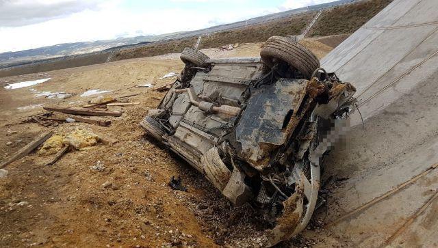 """Водитель иномарки улетел в кювет на трассе """"Таврида"""" – фото"""