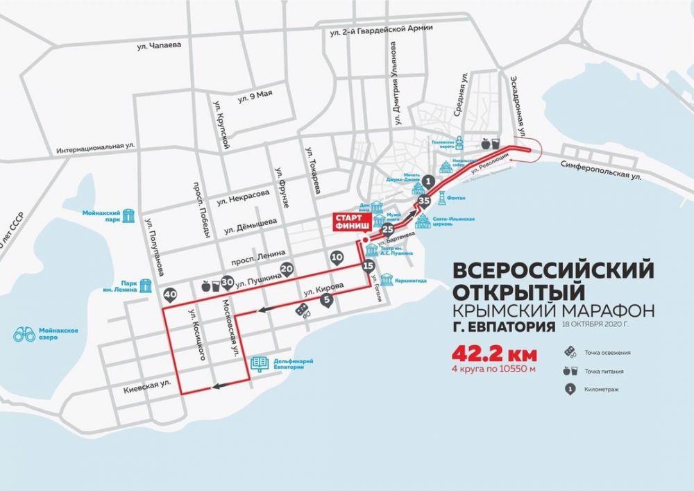 В Евпатории перекроют часть улиц ради Крымского марафона
