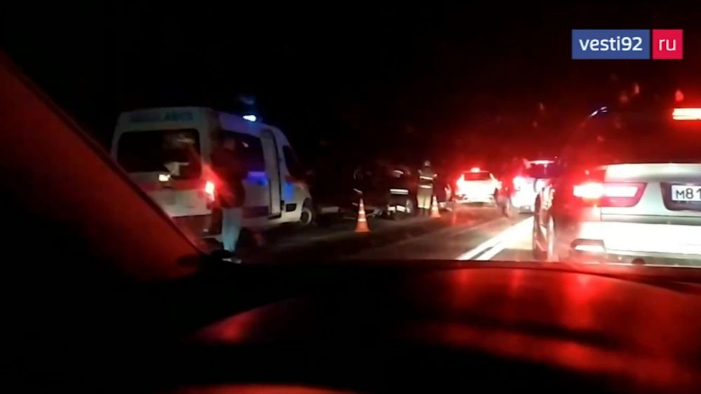 На выезде из Севастополя произошло массовое ДТП с пострадавшими