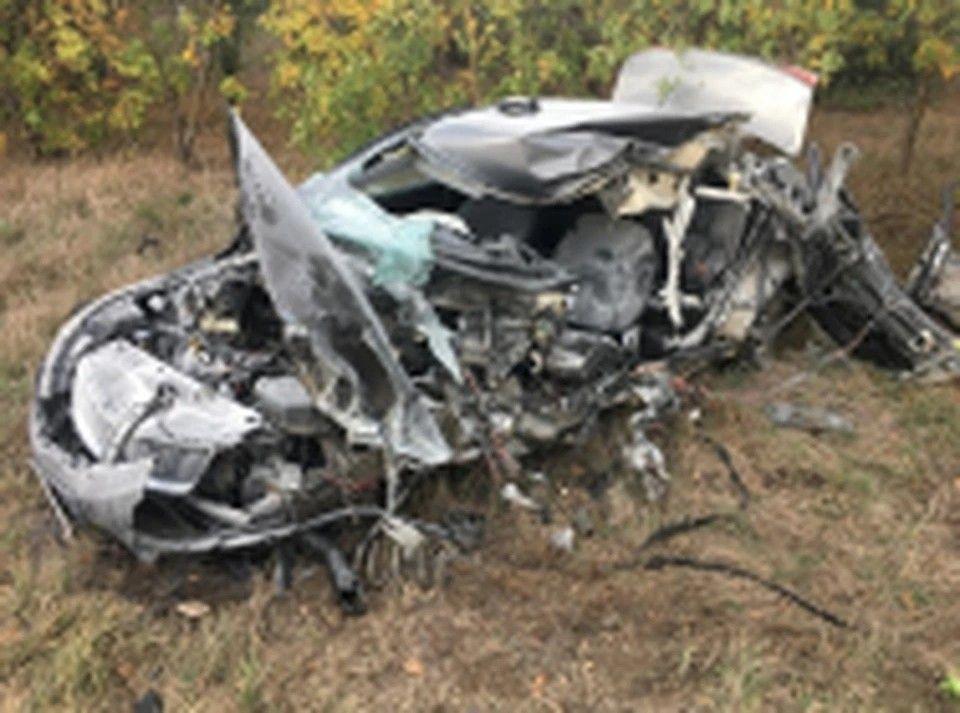 В Крыму во время аварии погиб водитель легковушки