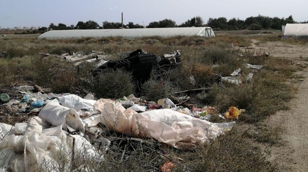 Госинспекторами Минприроды Крыма установлено несанкционированное размещение отходов на территории городского округа Армянск