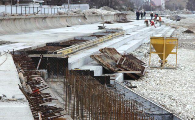 В Евпатории возобновят реконструкцию многострадальной набережной имени Терешковой