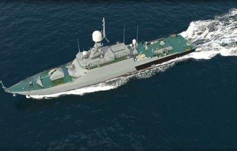 Ракетный корабль «Ингушетия» проходит Босфор и Дарданеллы