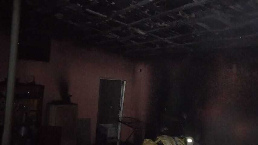 Огнеборцы ГКУ РК «Пожарная охрана Республики Крым» ликвидировали пожар в Бахчисарайском районе