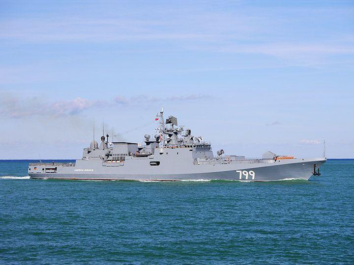 Фрегат «Адмирал Макаров» возвращается из Средиземного моря в Севастополь