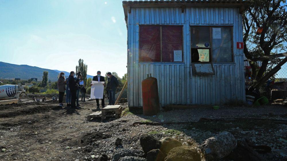 Сергей Аксёнов с рабочим визитом посетил объекты строительства Симферополя и Симферопольского района