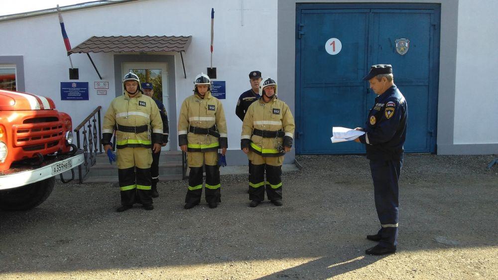 Огнеборцы ГКУ РК «Пожарная охрана Республики Крым» провели пожарно-тактическое занятие в культовом учреждении
