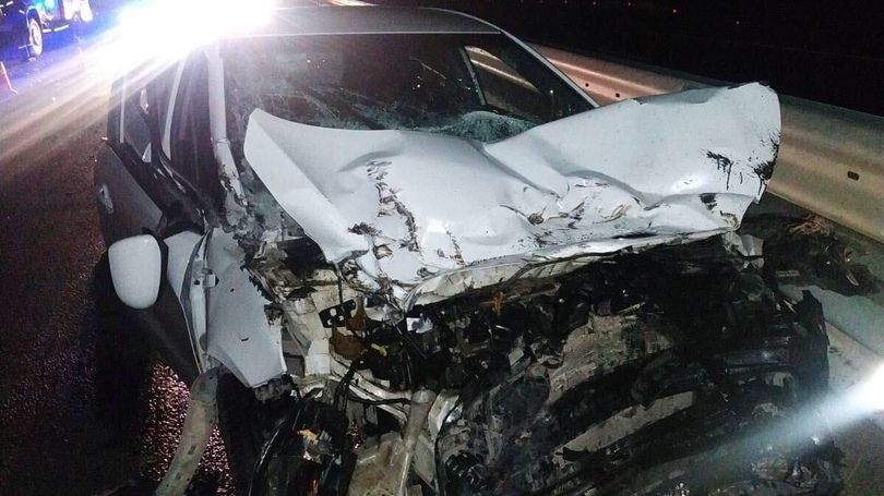 Сотрудники МЧС РК ликвидировали последствия ДТП на трассе «Таврида»