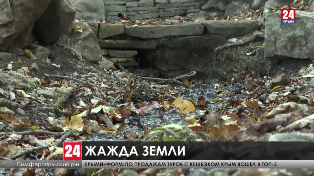 Сотни природных источников в Крыму пересыхают