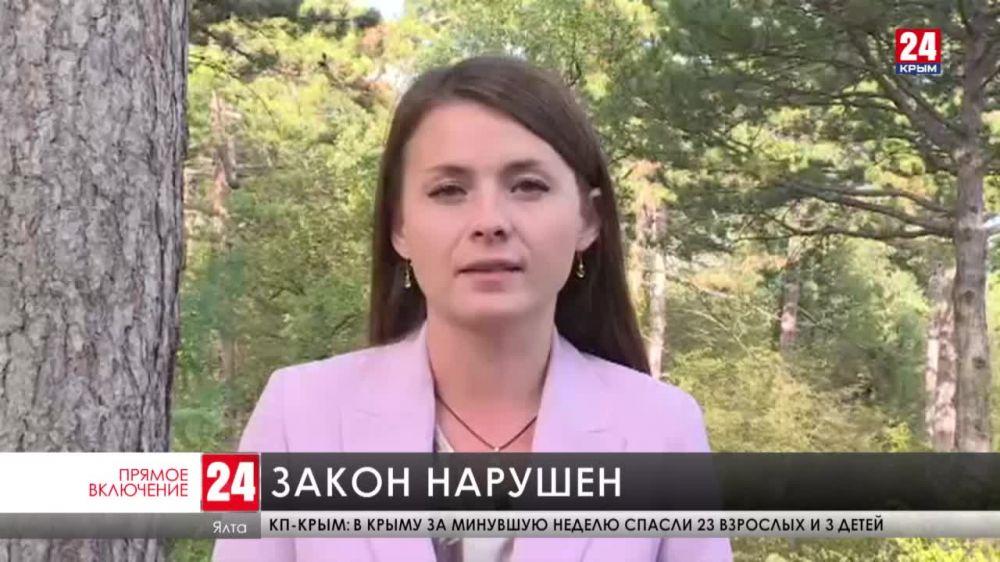 Журналисты «Крым 24» обратились в правоохранительные органы по факту нападения на съемочную группу в Ялтинском горнолесном заповеднике