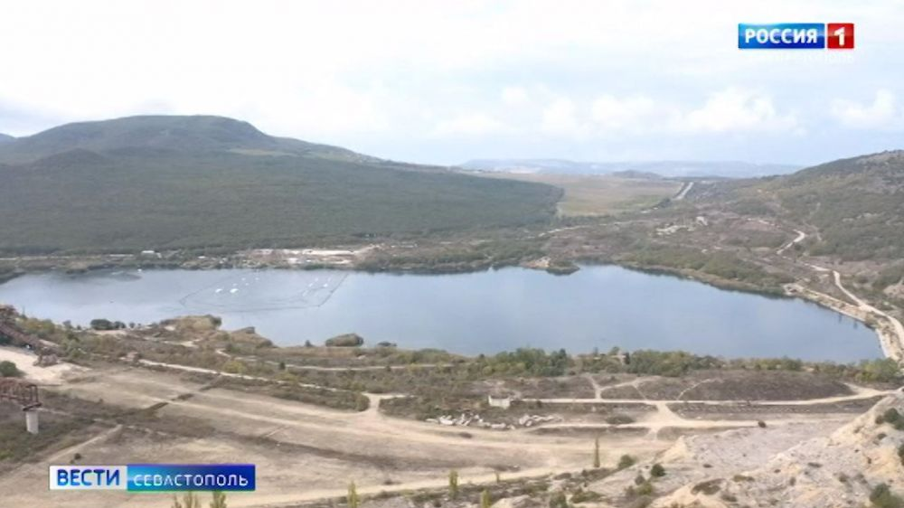 Объём воды в Чернореченском водохранилище Севастополя сократился