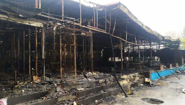 В Феодосии сгорело несколько кафе
