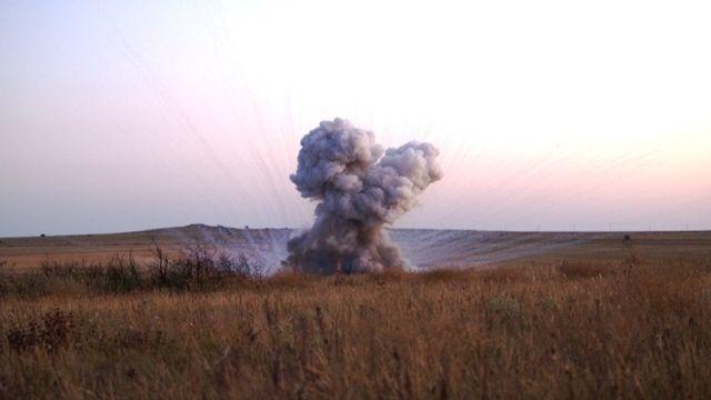 В Ленинском районе крымские спасатели уничтожили взрывоопасный предмет времен ВОВ