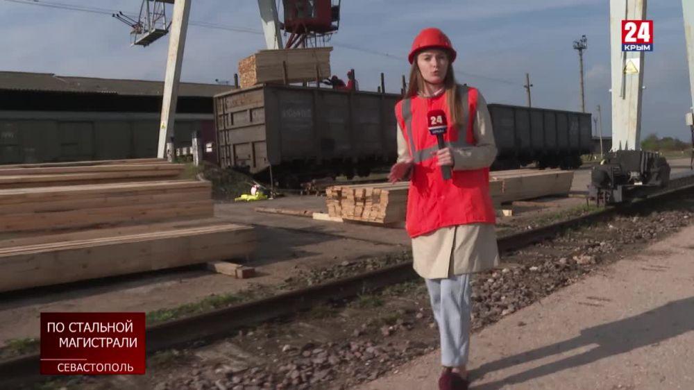 По Крымскому мосту перевозки товарными составами выросли на 30 процентов