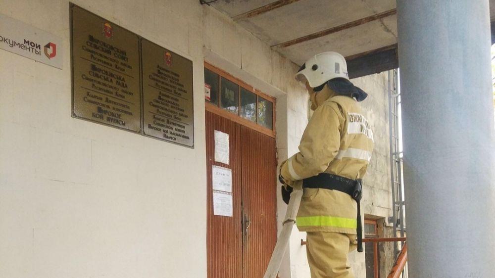Сотрудники «Пожарная охрана Республики Крым» провели пожарно-тактическое занятие на объекте с массовым пребыванием людей