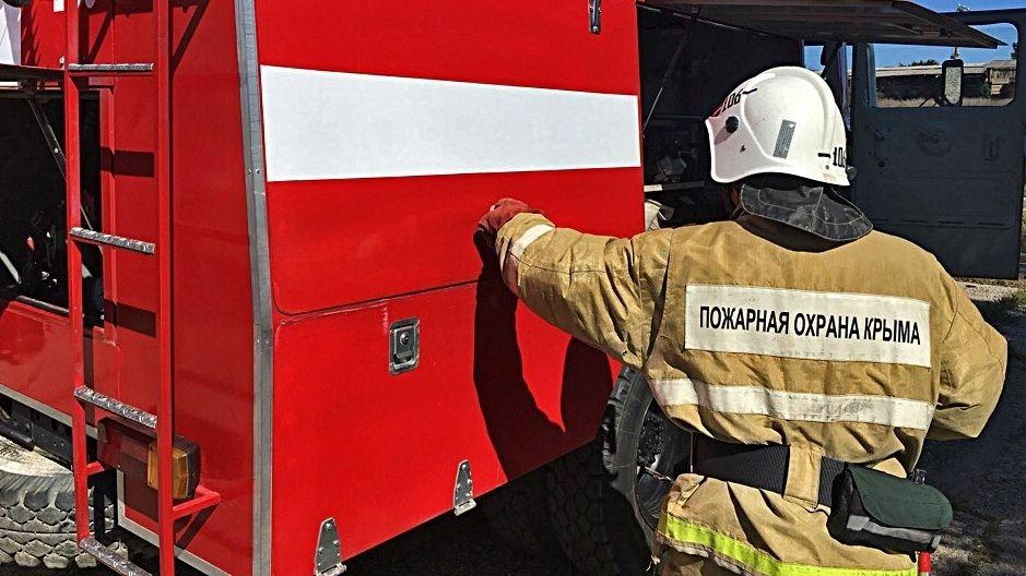 Пожар в Симферопольском районе был ликвидирован силами крымских огнеборцев