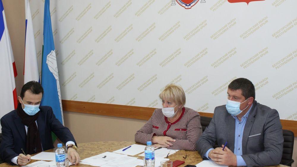 Руководители Белогорского района провели рабочее совещание по вопросам благоустройства территорий