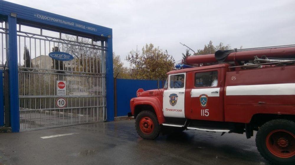Огнеборцы ГКУ РК «Пожарная охрана Республики Крым» обеспечили пожарную безопасность во время проведения испытания спасательных шлюпок