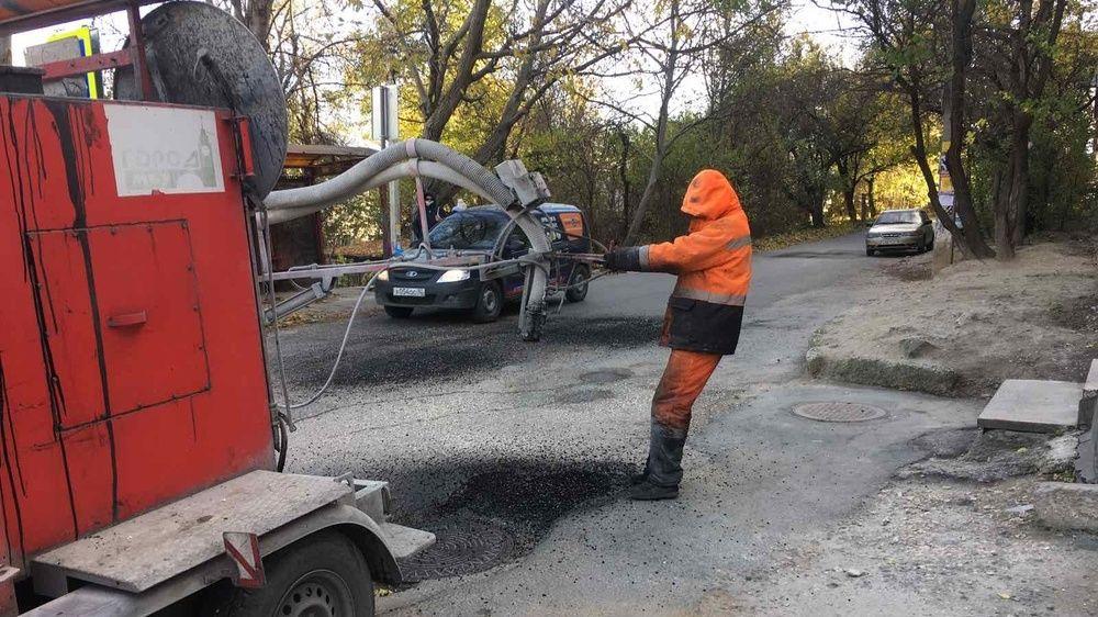 Текущий ремонт дорог в Симферополе
