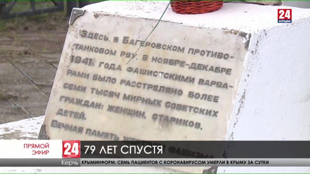 В ноябре-декабре 1941 года в Багеровском рву фашисты расстреляли около семи тысяч мирных граждан