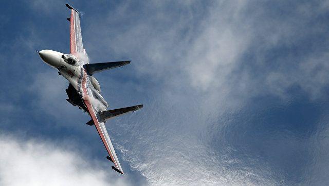 Российский Су-27 поднимался на перехват самолета США над Черным морем