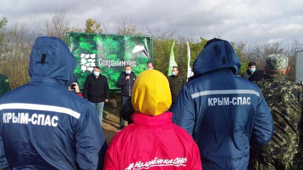 Сотрудники Евпаторийского отряда ГКУ РК «КРЫМ-СПАС» приняли участие в акции «Cохраним лес!»