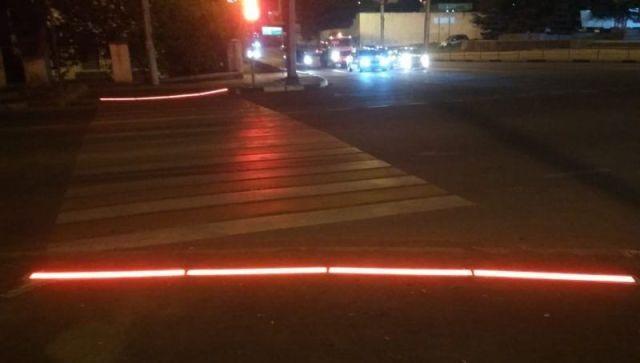В Севастополе появился инновационный пешеходный переход