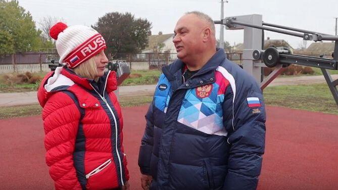 Глава Администрации Красногвардейского района Василий Грабован принял участие в авторском проекте Министра спорта РК Ольги Торубаровой