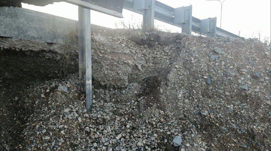 «Крымавтодор» приступил к ремонту обвала на трассе Дубки – Левадки