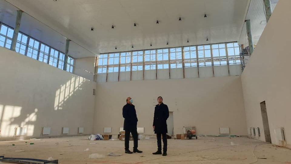 Дионис Алексанов проинспектировал ход работ по объектам строительства, реализуемым на территории района