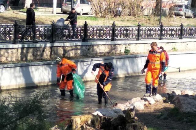 При расчистке русла реки Салгир зафиксировали нарушения на сотни тысяч рублей