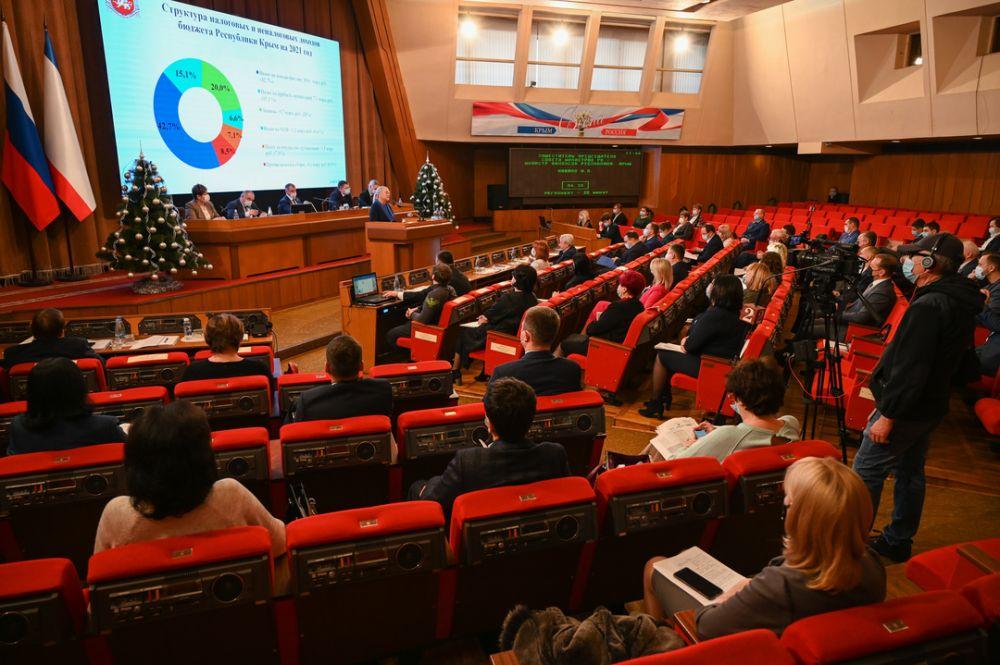 Госсовет РК в первом чтении принял бюджет Крыма на 2021-2023 годы