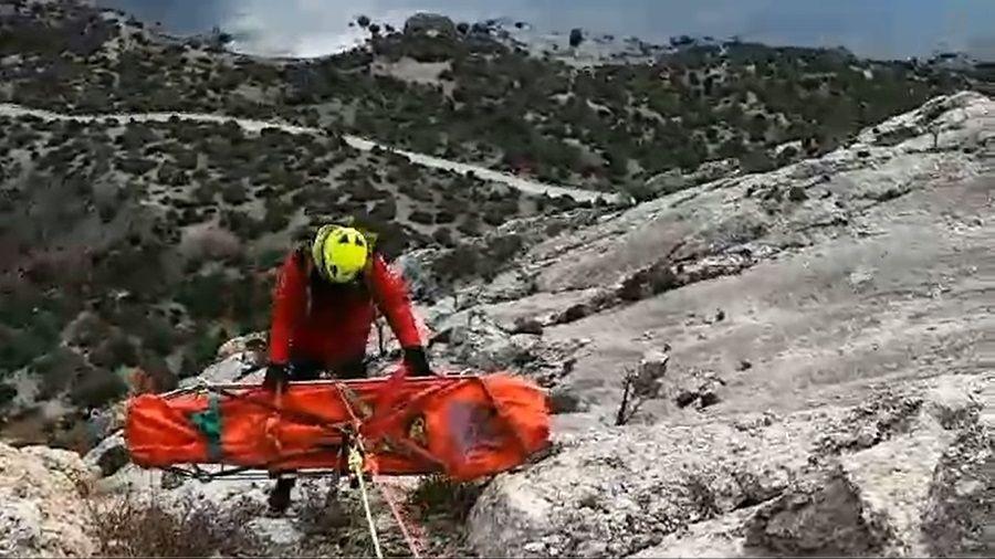 Специалисты ГКУ РК «КРЫМ-СПАС» провели тренировочное занятие в районе горы Сокол