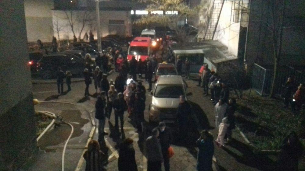 Эвакуация в многоэтажном доме г. Симферополь