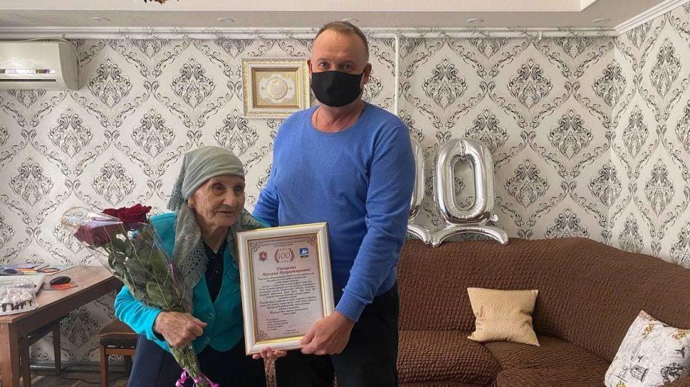 100-летний юбилей отпраздновала жительница села Чернышево Еникеева Муслима Мухаметжановна