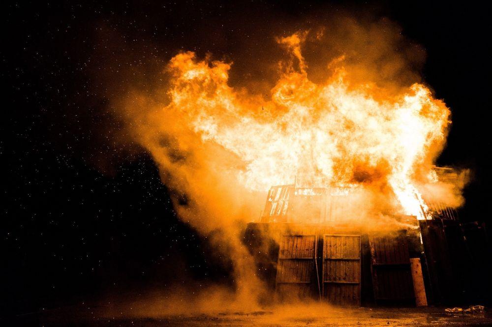 В Крыму в селе Межводное взорвалось здание