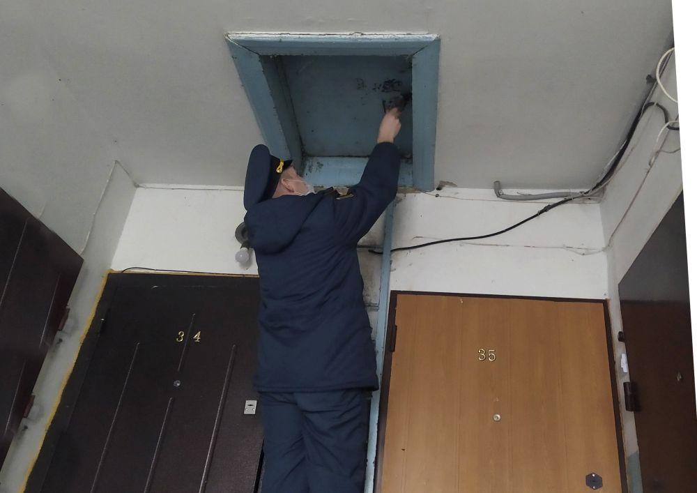 Проверка чердачных и подвальных помещений