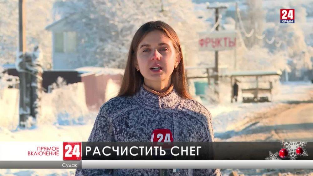 Сильный снегопад этой ночью обрушился на Восточный Крыма