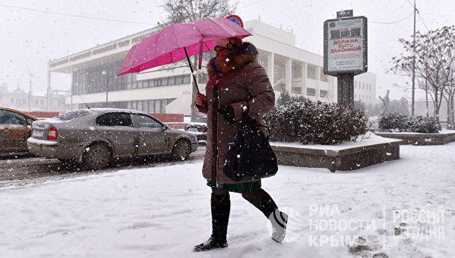 Крещенские морозы и метель: прогноз погоды в Крыму на понедельник