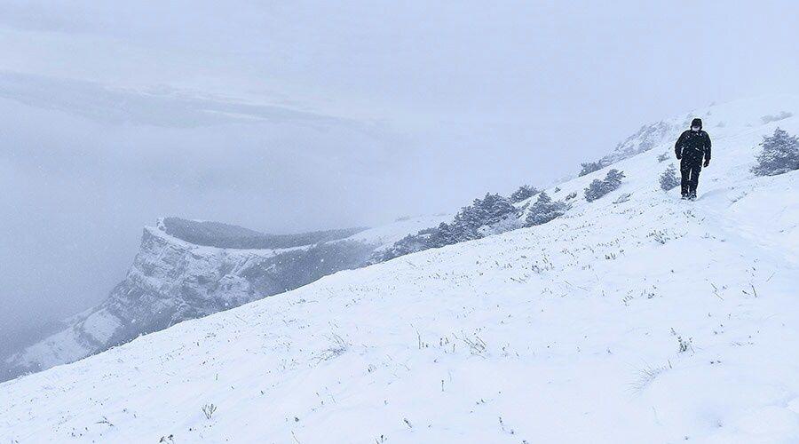 Высота снежного покрова в горах Крыма увеличилась до 25 сантиметров