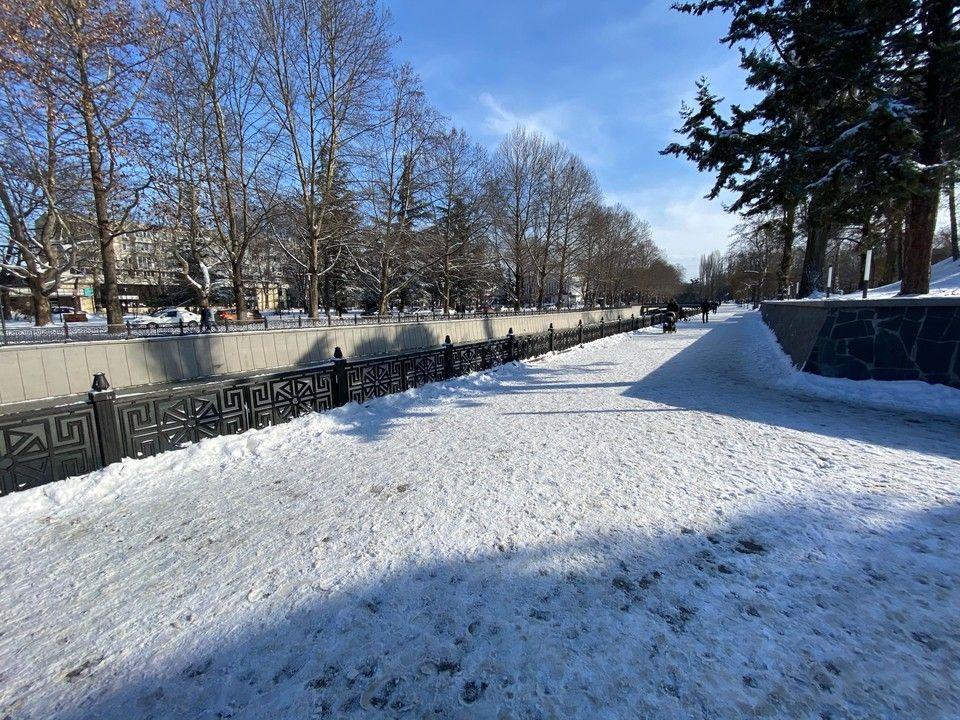В крымских горах за выходные выпало почти 30 сантиметров снега