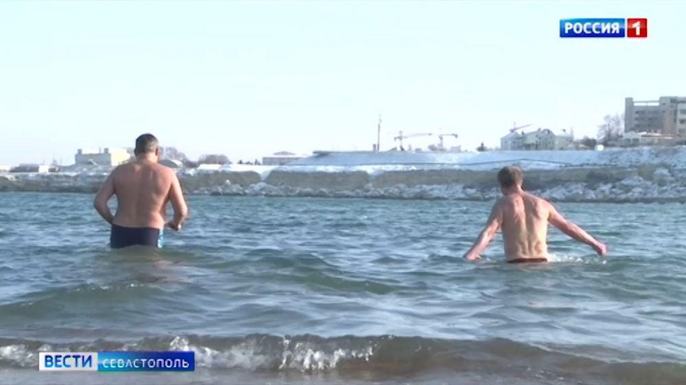 В Севастополе на территории «Херсонеса» прошли крещенские купания