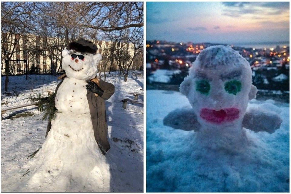 День снеговика в Ялте: Слепили из того, что было