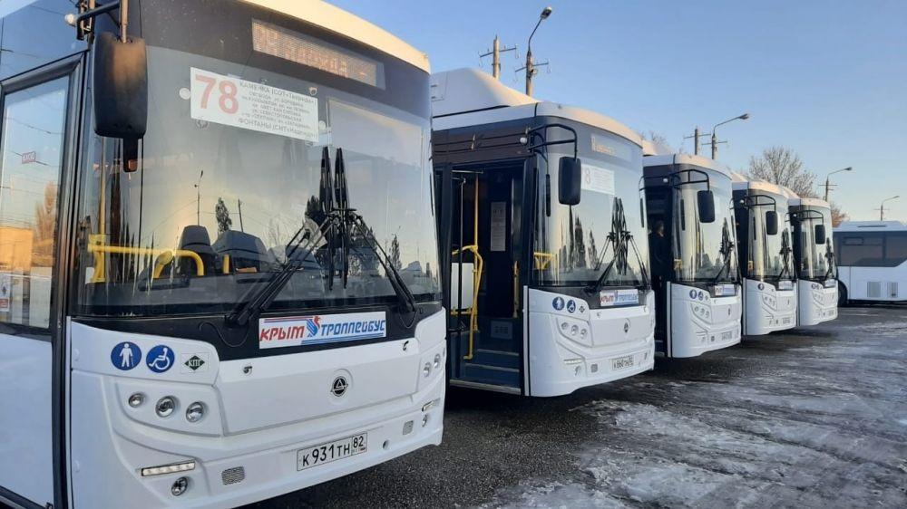 Минтранс РК: 5 новых автобусов вышли на маршрут №78 «Каменка – СТ Надежда» в Симферополе